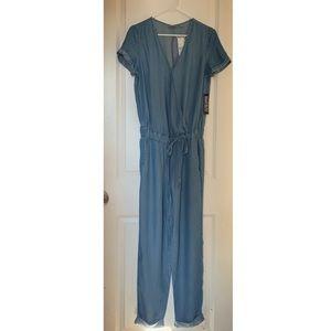 New York & Company Denim Jumpsuit, Size XS
